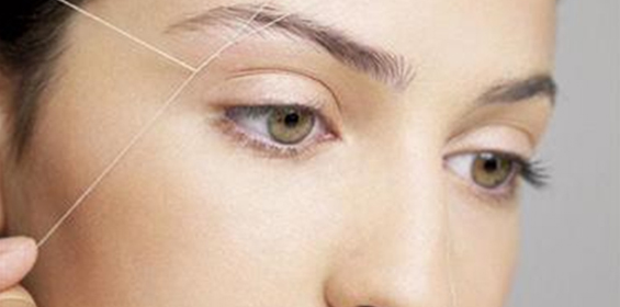 how to make eyebrows at home with thread